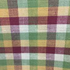 homespun plaid cotton plaid fabric red green mustard plaid