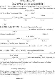 download rhode island residential lease agreement form for free