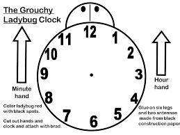clock outline colouring pages gekimoe u2022 30856