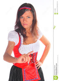 the in a traditional bavarian dress stock photography image
