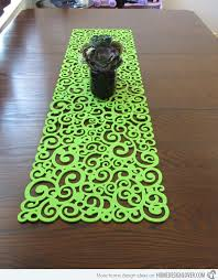 lime green table runner 15 table runner designs for your dining table home design lover