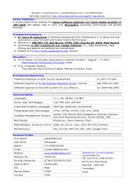Sample Resume Format For Experienced Software Test Engineer by Resume Format For Experienced Software Tester Free Resume