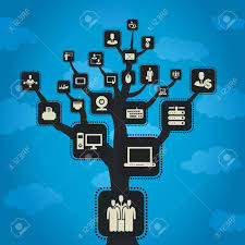 on a tree grow the computer a vector illustration royalty free