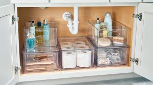 the kitchen sink cabinet organization 11 genius the sink storage ideas best sink organizers