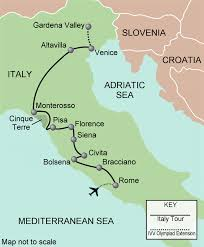 Italy On A Map by Italy Map Walking Adventures