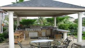 stone backyard patio covered outdoor kitchens and bars diy