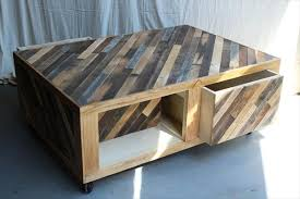 Build Your Own Reclaimed Wood Coffee Table by Pallet Coffee Table Wheels And Storage 101 Pallets