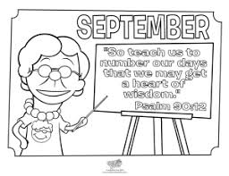September Coloring Page Psalm 90 12 Kid S Church Pinterest Coloring Pages For September