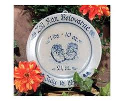 birth plates personalized rowe pottery personalized birth plate