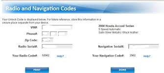 how to retrieve your audio and navigation system codes 2004 honda