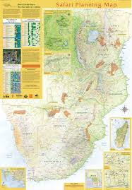 Mt Kilimanjaro Map African Safari Books Field Guides And Maps