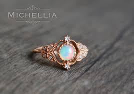 vintage opal engagement rings vintage ring in opal opal leaf engagement