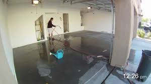 Rock Solid Garage Floor Reviews by How To Apply Garage Floor Epoxy In 2 Minutes Youtube