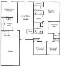 4 Bed House Plans 4 Bedroom House Plans One Story Gurawood 4 Bedroom Floor Plans