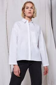 black blouse with white collar shirts blouses clothing topshop
