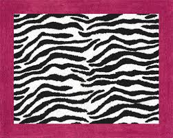 Zebra Bath Rug Pink Black Zebra Print Rug Soft Accent Floor Area Or Bath Rug