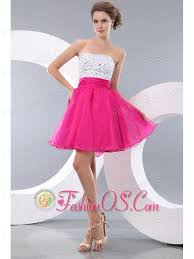 pink a line princess strapless beading short prom