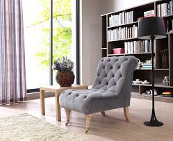 Tufted Accent Chair Casa Phoebe Modern Grey Tufted Accent Chair