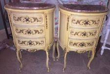 Curved Nightstand End Table French Nightstand Ebay