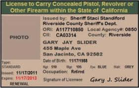 california concealed carry ccw permit information laws
