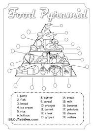 good activity to work food and healthy esl worksheets kids