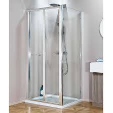 Folding Shower Door Enchanting White Bi Fold Shower Door Contemporary Ideas House