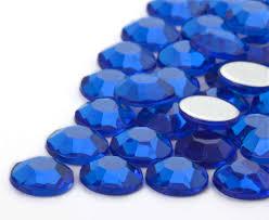 Modre by Nalepovací Akrylové Kameny Kulaté 10mm Modré Korálky Cz