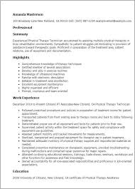 sample pta resume unforgettable physical therapist resume