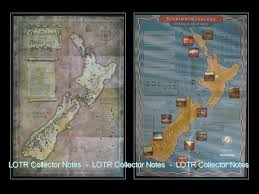 Lotr Map Film New Zealand Lord Of The Rings Collector Notes
