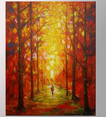 modern kitchen canvas art autumn forest painting kitchen wall art landscape painting