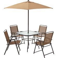 Pensacola Patio Furniture by Mainstays Pleasant Grove 6 Piece Sling Folding Set Tan Walmart Com