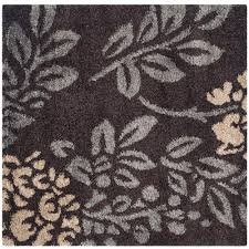 Brown And Beige Area Rug Safavieh Florida Shag Smoke Dark Brown 8 Ft X 10 Ft Area Rug