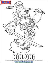 skylanders giants magic series1 ninjini coloring page h u0026 m