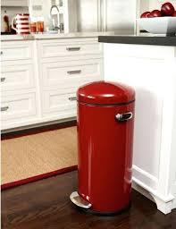 poubelle cuisine retro kitchen move poubelle de cuisine automatique 58 l couleur unique