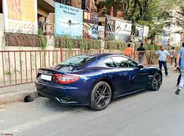 maserati gt 2016 exclusive pics black maserati granturismo in mumbai edit a