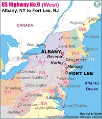 us hwy map us highway no 9 west route from chlain ny to laurel de
