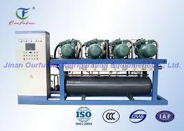 condensation chambre unité de compresseur de vis de parallèle de danfoss unité de