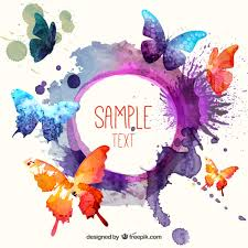watercolor butterflies background vector free download
