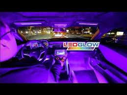 Colored Interior Car Lights Ledglow U0027s Purple Expandable Smd Led Interior Kit Youtube