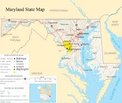Washington Dc Usa Map by Maps United States Map Maryland