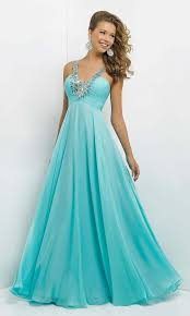 prom dresses cheap affordable blue chiffon spaghetti prom dress with