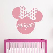 online buy wholesale carton paper for names from china carton mickey mouse wall decals personalized name room girl nursery bedroom decor free shipping