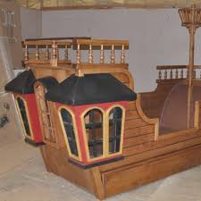 Pirate Ship Bunk Bed Wooden Pirate Ship Bed Modern Storage Bed Design