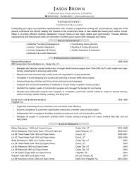 Construction Vice President Resume Resume Example Of Construction Resume