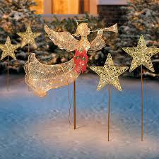 lighted christmas yard angels ingenious inspiration lighted christmas angel yard decor tree topper