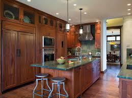 green tile backsplash kitchen viking range green painted walls glass front top cabinets white