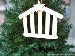 how to make a stable ornament nativity ornament series craft