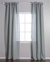 Tie Top Curtains Tie Top Curtain Pom Pom Linen