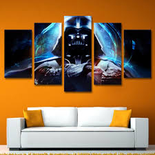 5 panels canvas prints star wars darth vader wall art home decor 5
