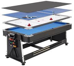 3 in one pool table gaming desks revolvers hockey and tennis